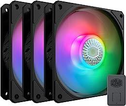 $45 » Cooler Master SickleFlow 120 V2 ARGB 3in1 120mm Square Frame Fan, Customizable LEDS, Air Balance Curve Blade Design, Seale...