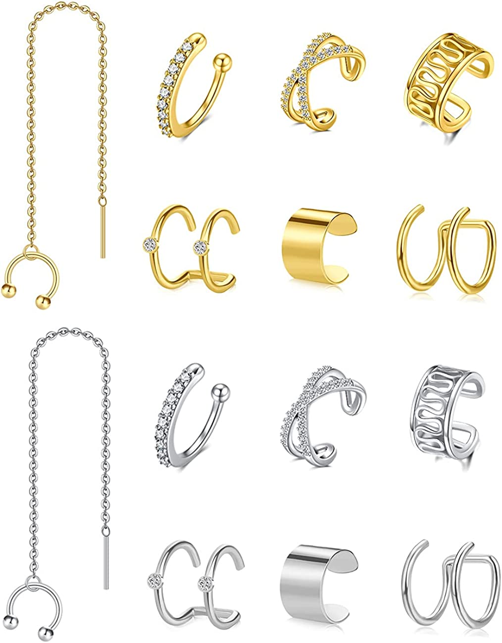 Animer and price revision MODRSA Fake Earrings Fixed price for sale Cuffs Women on Clip non Helix Piercing