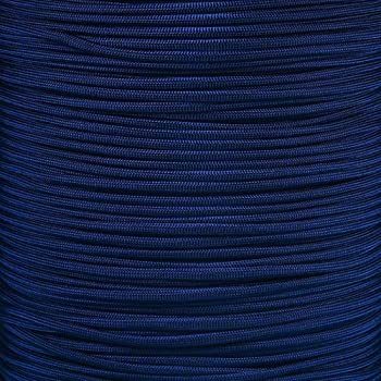 PARACORD PLANET 10 20 25 50 100 Foot Hanks and 250 1000 Foot Spools of Parachute 550 Cord Type III 7 Strand Paracord  Midnight Blue 1000 Foot Spool