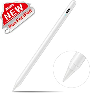 "Stylus Pen 2nd Gen, Digital Pen for Apple iPad 6th&7th Gen,iPad Air 3rd, iPad Mini 5th,iPad Pro 3rd (11""&12.9""),with Palm-Rejection.Precise Drawing and Writing,for IPad Apple Pencil 1 2 (White)"