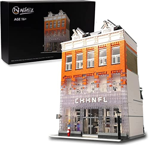 popular Nifeliz Street Crystal House MOC Building Blocks and Engineering Toy, Construction Set to Build, Model Set and Assembly online sale Toy for online sale Teens and Adult(3804 Pcs) online sale
