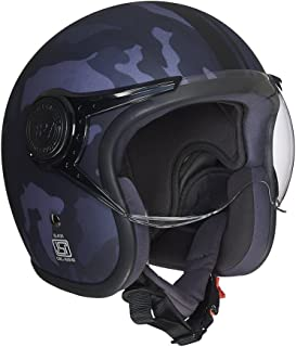 Royal Enfield Grey Open Face with Visor Helmet Size (XL)62 CM (RRGHEH000015)