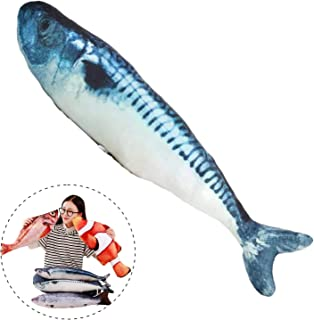 Simulation Fish Plush Toy Soft Fish Toy Pillow Cushion Stuffed Toy Oversized Pillow Creative Gift Home Decor 15.7 in, Spanish Mackerel