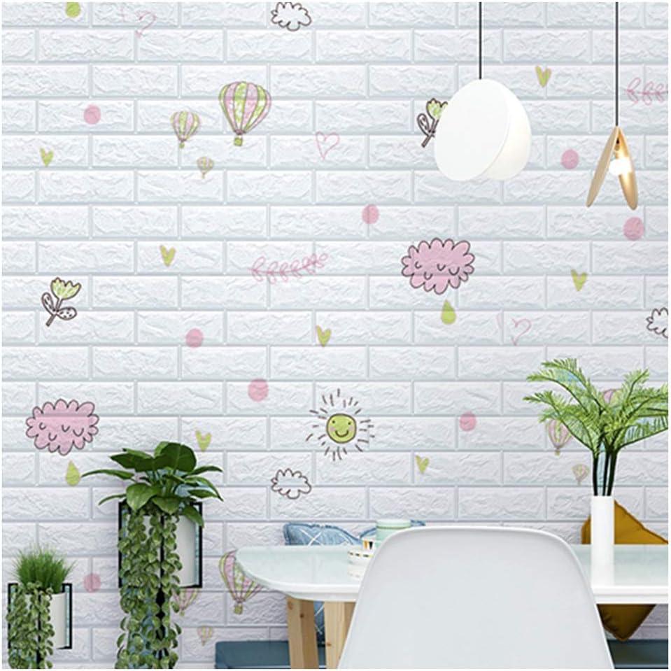 ZHANWEI Be super welcome 3D Wall Panels Wallpaper New Orleans Mall Foam Pattern Brick Waterproof S