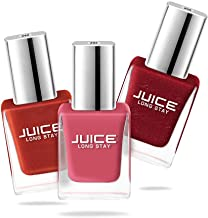 Juice Nail Polish Pack of 3 Coral Sunset - 292 / Golden Orange - 249 / Firey Red - 208 GLOSS COMBO_24