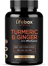 Turmeric Curcumin with BioPerine & Ginger – with 95% Curcuminoids High Absorption Turmeric Supplements for Joint Health, H...