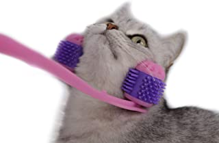 NIJNAS Cat Massager Roller Relaxer - Silicone Grooming Brush Tool