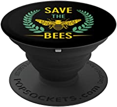 Save The Bees Phone Accessory - Endangered Bees Awareness - PopSockets Grip and Stand for Phones and Tablets
