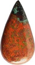 Genuine Red Green Sonora Jasper Cabochon, Pear Shape, Sonora Sunset,Sonoran Sunrise, Sonoran AG-9069