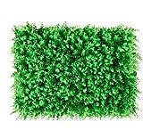 uyoyous 12 Stück Künstliche Hecke Sichtschutz Pflanzenwand Hintergrund Künstliche Ivy Leaf Pflanze UV-Schutz Wand Dekoration Gartenzaun - 40X60cm