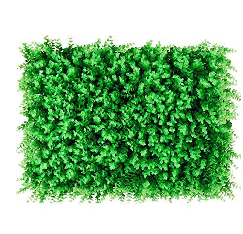 uyoyous 12 Stück Künstliche Hecke pflanzenwand Hintergrund Künstliche Ivy Leaf Pflanze UV-Schutz Wanddekoration Gartenzaun Sichtschutz- 40X60cm