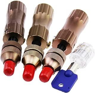 suoyigou tubulares de 3piezas Juego de ganzúas para cerraduras tubulares (transparente + 1para Locksmith Entrenamiento Skill