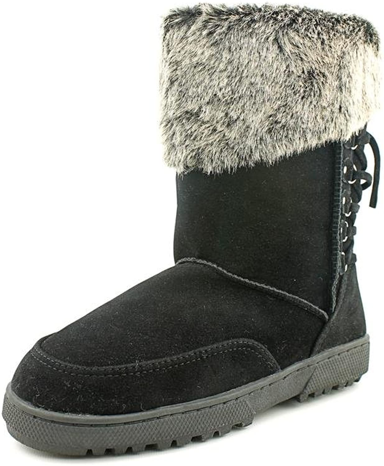 Rampage Womens Areya Faux Fur Closed Toe Mid-Calf Cold Weather Boots