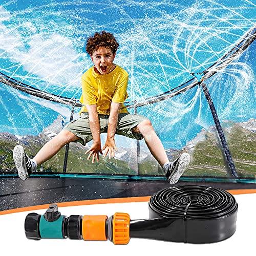 Trampolin Sprinkler, 15m Outdoor Wasserpark Trampolin Wasser Sprinkler, Sommer Water Spaß Trampolin Zubehör für Kinder