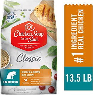 Chicken Soup for The Soul Indoor Cat Food- Chicken & Brown Rice Recipe, Dry Cat Food