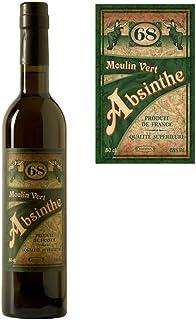 Absinth Moulin Vert aus Frankreich | Original Rezeptur | 68% Vol. | Premium Qualität mit Weinalkohol destilliert | 1x 0.5 l