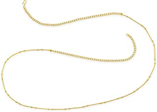 ACCESSHER Gold Color Copper Material Chain Kamarband