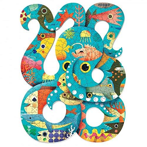 Djeco – Puzzle Art Octopus 350 Teile, Mehrfarbig (DJ07651)