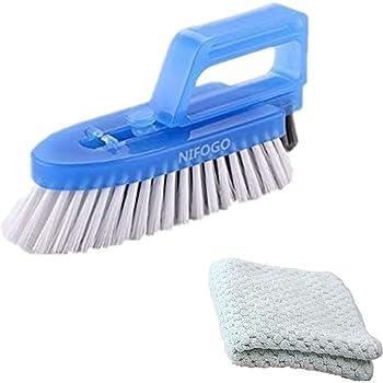 Cepillo para Limpieza de Juntas Desmontable - Cepillo Para Baños, Cocinas y Hogar,Limpia a Fondo las Juntas de las Baldosas y Azulejos y Elimina el Moho Superficial, (Cepillo + Trapo sin aceite)