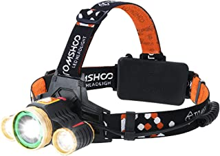 LED Headlamp, USB Rechargeable Waterproof Headlight Provide 1600 Lumens with 4 Lighting Modes for Outdoor, Camping, Running, Hiking, Reading and More(Rechargeable)