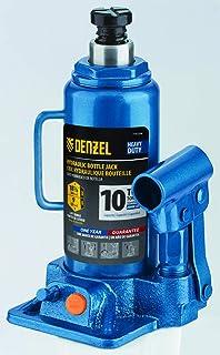 Denzel 10T Hydraulic Bottle Jack, Range 9-Inch - 18-1/8-Inch (7751106)