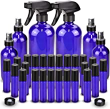 Glass Spray Bottle, Wedama Roller Bottles, Essential Oil Roller Bottles Kits (2 x 16oz,4 x 4oz,24 x 10ml) with Accessories...