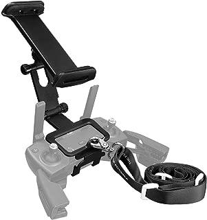 Powerextra 4-12 Inch Adjustable Extender Tablet Holder Mount with Neck Lanyard Strap Compatible with DJI Mavic Mini, Mavic 2 Pro/Zoom, DJI Spark/Mavic Pro/Mavic Air Remote Control