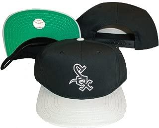 Chicago White Sox Black/Grey Two Tone Snapback Adjustable Plastic Snap Back Hat / Cap