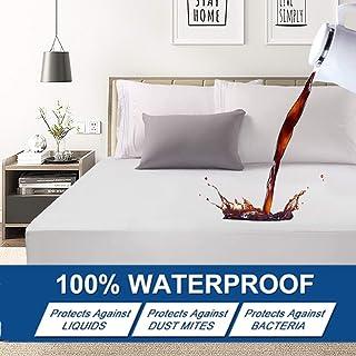 Smilee Premium Hypoallergenic Waterproof Mattress Protector - Deep Pocket - Hypoallergenic Vinyl Free (Single(120X200X30CM))