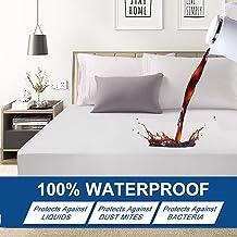 Premium Hypoallergenic Waterproof Mattress Protector - Deep Pocket - Hypoallergenic Vinyl Free (QueenP(180X200X30CM))