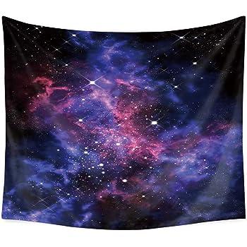 Galaxy Sterne im Weltraum Druck Nebel Wandteppich und Tagesdecke