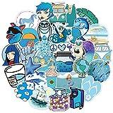 ZNMSB Pegatinas de papelería de decoración de Cuerpo de Maleta de Maleta de Aventura de Playa Fresca pequeña Azul