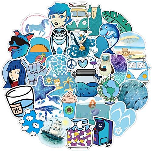 Later Vsco Blue Small Fresh Beach Adventure Suitcase Suitcase Body Decoration Stationery Sticker 50pcs
