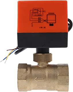 Sara-u Electric Motorized Brass Ball Valve DN20 AC 220V 2 Way 3-Wire with Actuator