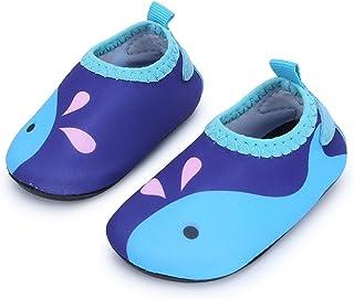 8bf6ab5d4084 JIASUQI Baby Boys and Girls Barefoot Swim Water Skin Shoes Aqua Socks for Beach  Swim Pool