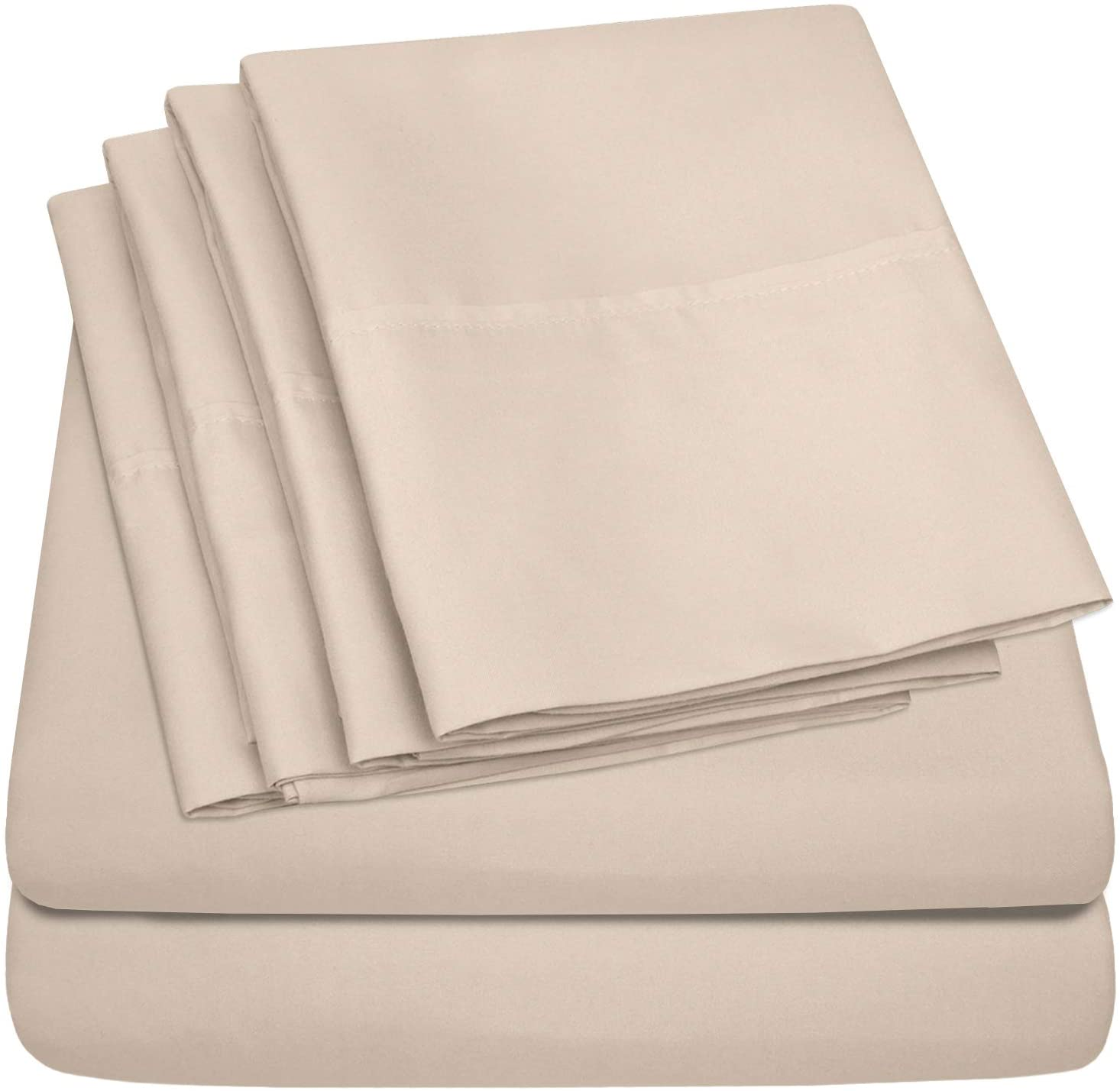 Sweet Home Collection 6 Piece Bed Fine 40% OFF Cheap Sale Count 1500 Thread El Paso Mall Sheets