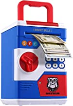Electronic Piggy Bank, Large Capacity Money Coin Code Bank for Boys & Girls with Music entertainment, Personal Password Set Child Cash Deposit Box, Mini ATM for Kids with Automatic Money Scroll