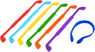 uxcell Glasses Sunglasses Sports Elastic Strap Band Neck Cord Holder 7pcs
