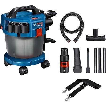 Bosch Professional 18V System aspirateur eau et poussière sans-fil GAS 18V-10 L (sans batterie ni chargeur, avec flexible de 6 m, coude, set de 3 tubes, set de 4 roues et autres accessoires)