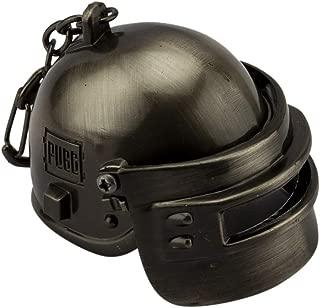 Knighthood PUBG Game Level 3 Helmet Metal Keychain & Keyring for Bikes (Medium Size) (Black)