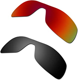 Hkuco Plus Mens Replacement Lenses For Oakley Antix Sunglasses Red/Black Polarized