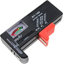 Segolike Battery Tester for AA/AAA/C/D/9-volt Rectangular and Button Cell Batteries (Black)