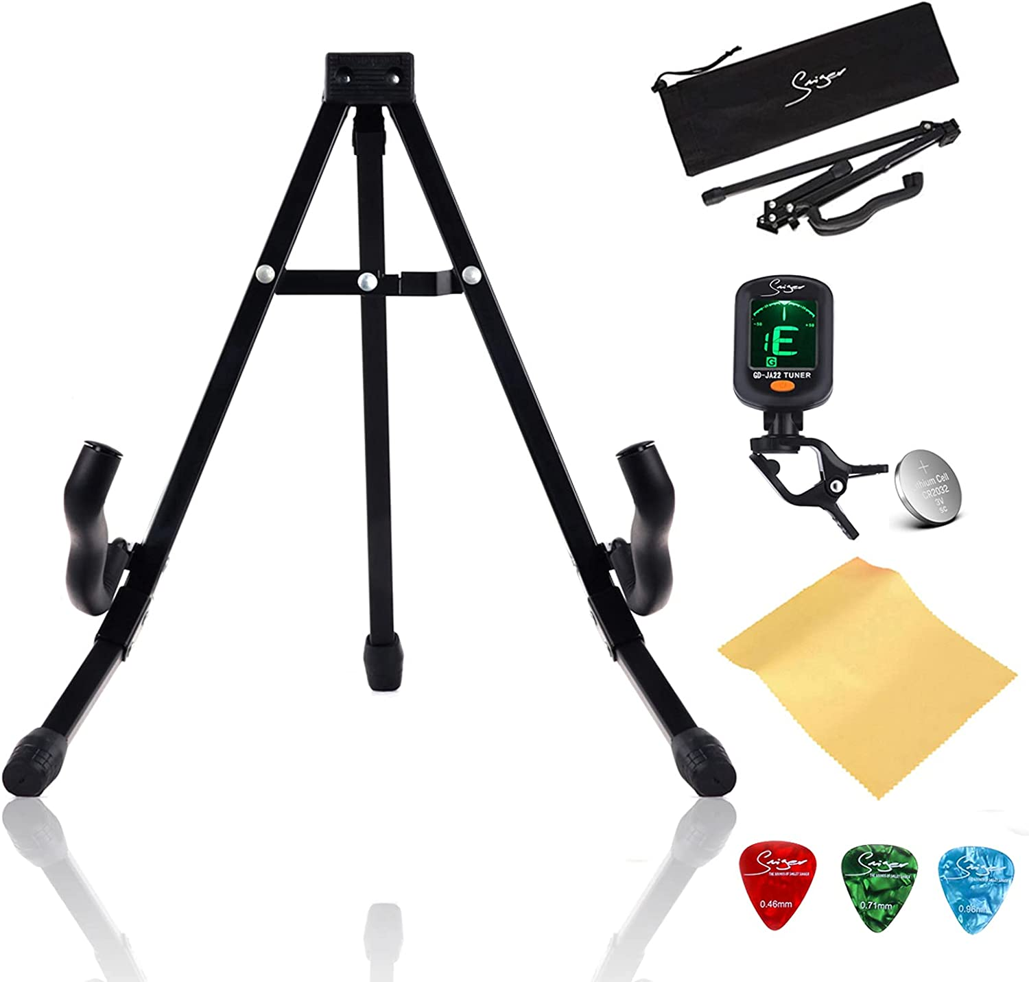 Extremely Foldable A Frame Quantity limited Guitar Gu Industry No. 1 Stand Electric for Acoustic