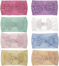 Baby Girl Hair Hoops Headbands Newborn Infant Toddler Soft Headbands With bows