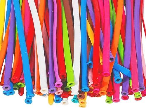 AONEYAL 100 Pcs Professional Balloons Magic Balloons with Pumps