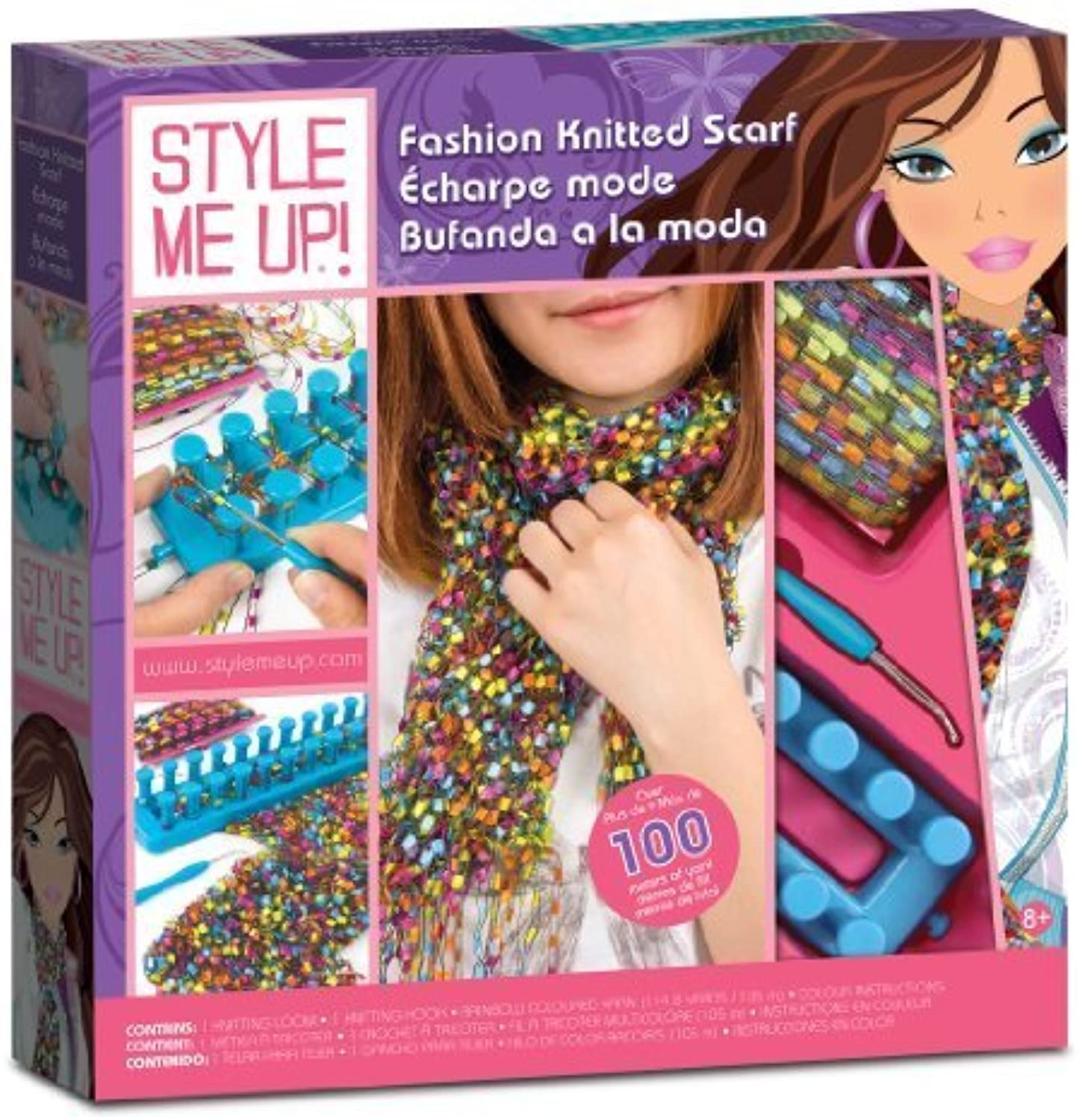 Style Me Up Fashion Knitted Scarf by Style Me Up  [Toy]