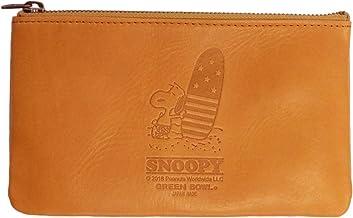 【日本製】SNOOPY スヌーピー Leather Pouch(M)/レザーポーチ(M)