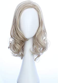 HangCosplay:Ms. Marvel Wig Inspired by Captain Marvel Medium Blonde Wavy Cosplay Hair For Women and Teens