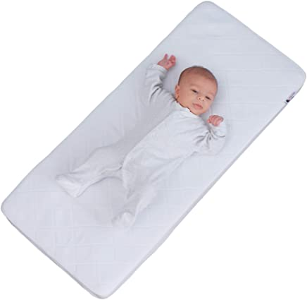 Cool White Little Chick Breathable Crib with a Luxury Breathable Microfibre Hypoallergenic Mattress