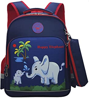 Cute Dinosaur Astronauts Elephant Schoolbag for Boys Girls Roomy Space Backpack with Pencil Bag for Children Student Book bag
